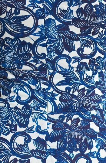 Tory Burch 'Sophia' Silk Fit & Flare Dress