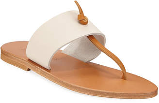 K. Jacques Shambala Flat T-Strap Leather Sandals