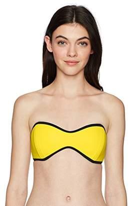 Body Glove Women's Tainted Love Molded Cup Bandeau Bikini Top Swimsuit