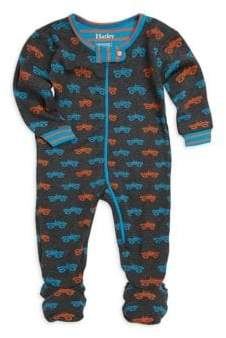 Hatley Baby Boy's Colorful Monster Truck Footie
