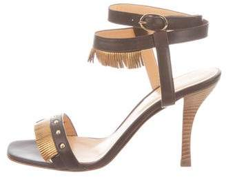 Sergio Rossi Leather Wrap-Around Sandals w/ Tags