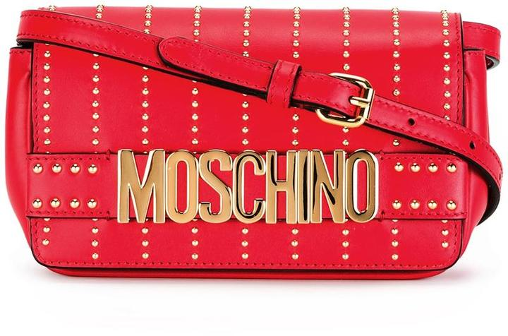 MoschinoMoschino studded crossbody bag