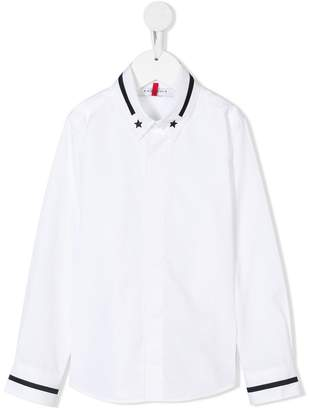 Givenchy Kids star-embroidered shirt