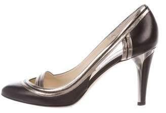 Jimmy Choo Round-Toe High Heel Pumps