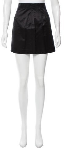 prada Prada Silk Mini Skirt