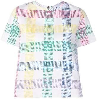Mira Mikati flower embroidered T-shirt