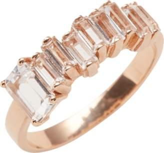 Suzanne Kalan Rose Gold Amalfi Emerald Cut Ring