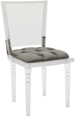 Safavieh Couture Ella Contemporary Acrylic Dining Chair with Cushion