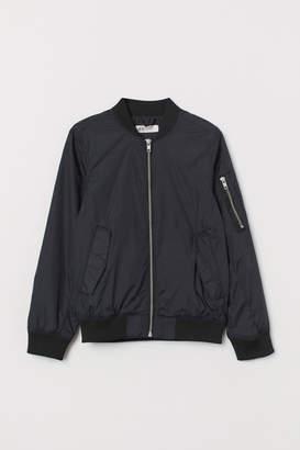 H&M Nylon Bomber Jacket - Black