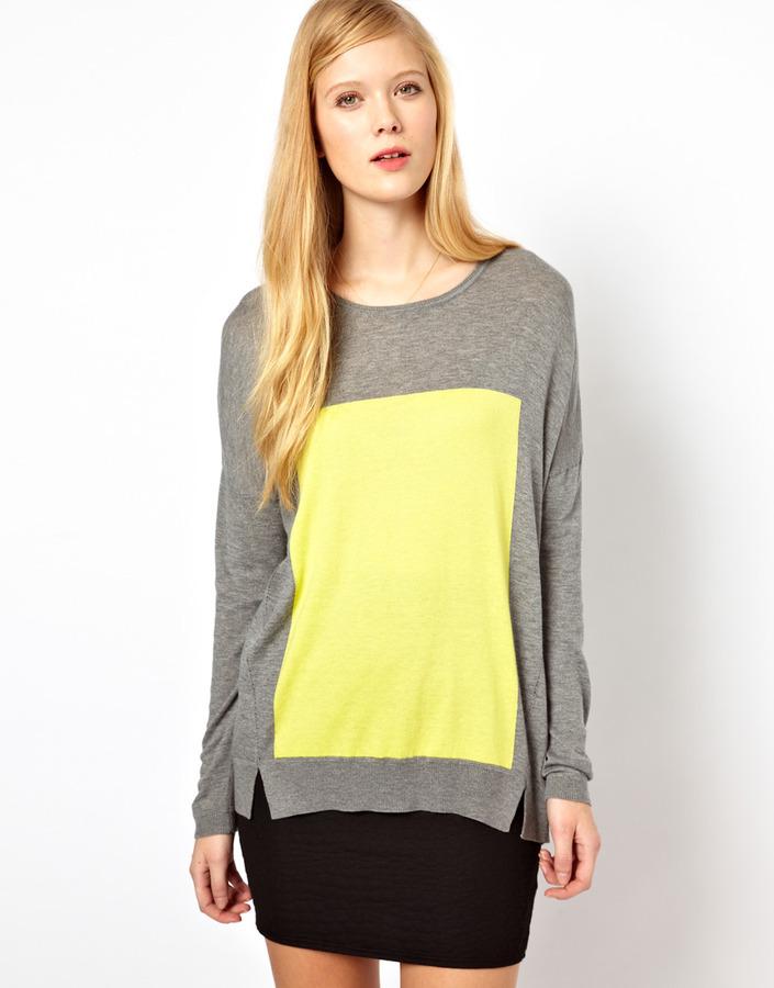 Whistles Mattie Intarsia Panel Sweater