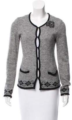 Ermanno Scervino Long Sleeve Scoop Neck Cardigan