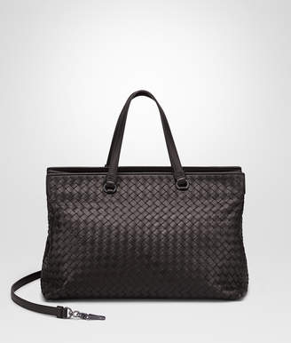 Bottega Veneta ESPRESSO INTRECCIATO NAPPA LARGE TOP HANDLE BAG