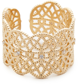 Jules Smith Lace Pave Ring Cuff $45 thestylecure.com