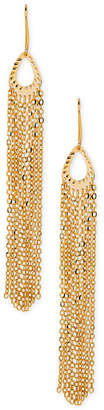 Italian Gold Multi-Chain Fringe Drop Earrings in 14k Gold