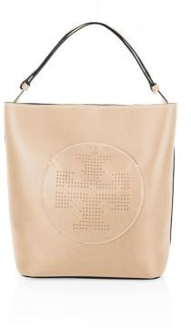 Tory Burch Tory Burch Perforated Logo Leather Hobo