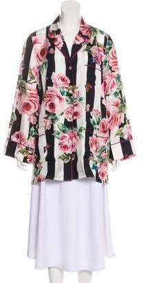 Dolce & Gabbana Silk Pajama Top
