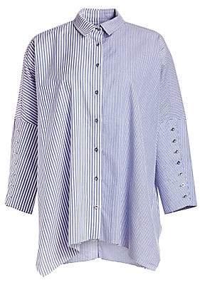 Marques Almeida Marques'Almeida Marques'Almeida Women's Stripe Long-Cuff Button-Down Shirt