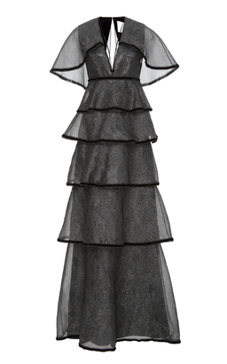 Markarian Scorpius Tiered Gown