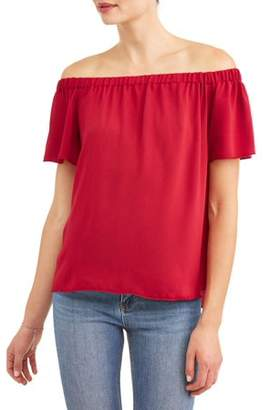 Paper Tee Women's Short Sleeve Off the Shoulder Top