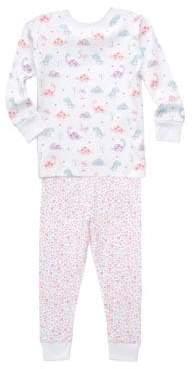 Kissy Kissy Toddler's& Little Girl's Printed Cotton Pajama Set