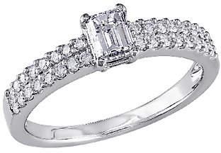 Affinity Diamond Jewelry Emerald-Cut Diamond Ring, 3/4ttw 14K White Gold