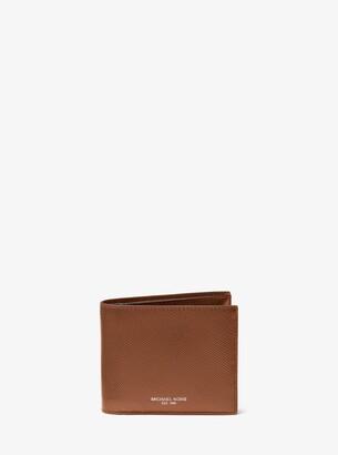fd8d5a731856 Michael Kors Harrison Crossgrain Leather Billfold Wallet With Passcase