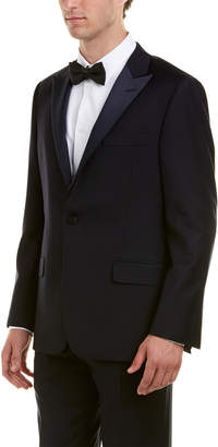 Hickey Freeman 2Pc Sterling Wool Tuxedo With Flat Pant