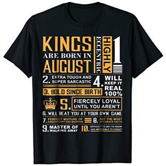 Birthday Gifts - Kings are Born In August T-Shirt