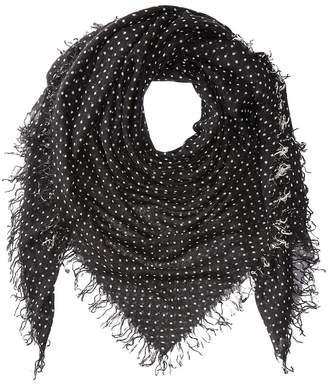Chan Luu Cashmere Silk Polka Dot Scarf Scarves