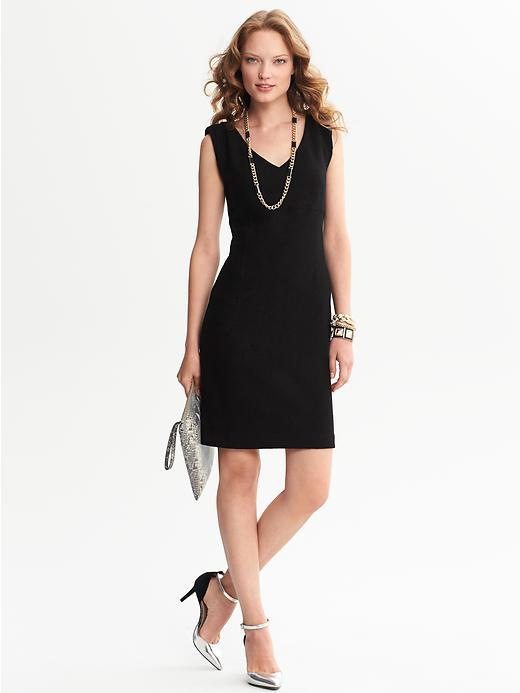 Banana Republic Draped Wool Dress