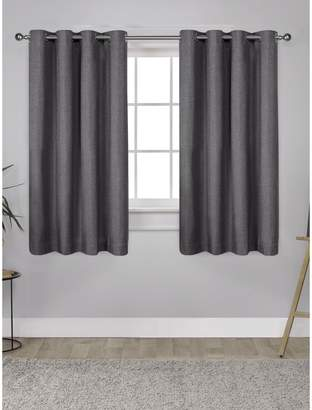 Home Outfitters London Textured Linen Thermal Window Curtain Panel Pair with Grommet Top
