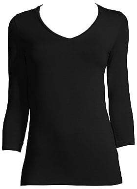 Majestic Filatures Women's Soft Touch V-Neck Tee