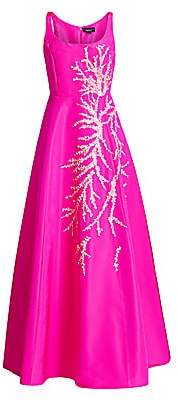 Ahluwalia Women's Embellished A-Line Silk Gown
