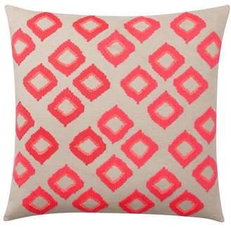 Pottery Barn Teen Diamond Sequin Euro Pillow Cover, Tangerine