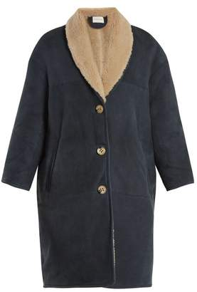 Etoile Isabel Marant Alan shawl-lapel shearling coat