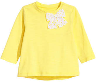 H&M Jersey Top with Bow - Yellow