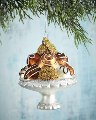 Katherine's Collection Chocolate Bonbon Plate Christmas Ornament