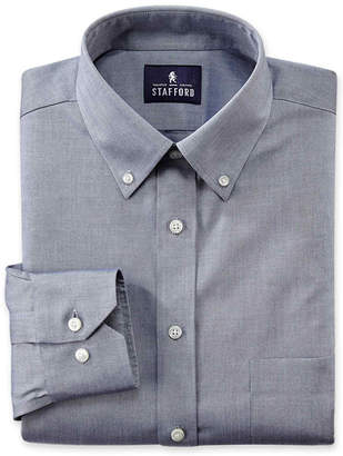 STAFFORD Stafford Executive Non-Iron Cotton Pinpoint Oxford Dress Shirt-Big & Tall
