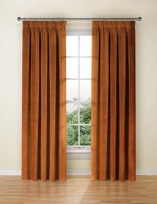 Marks and Spencer Velvet Pencil Pleat Curtains