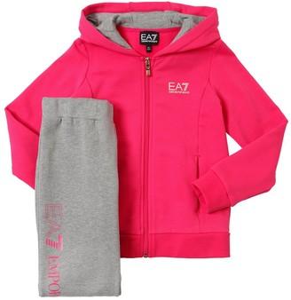 Emporio Armani Ea7 Zip-up Cotton Sweatshirt & Sweatpants