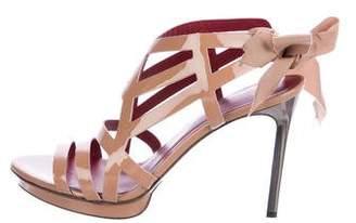 Lanvin Patent Leather Cutout Sandals