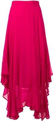 Twin-Set asymmetric hem maxi skirt
