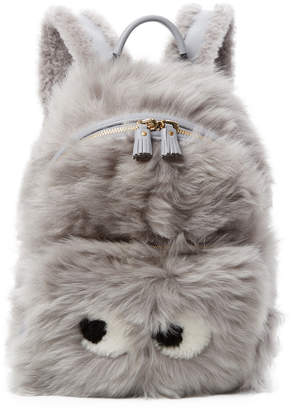Anya Hindmarch Shearling Mini Backpack