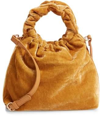 Sole Society Mini Tyll Velvet Top Handle Bag