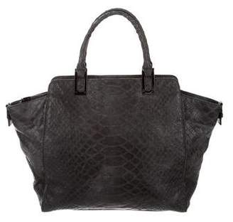 Milly Embossed Leather Handle Bag