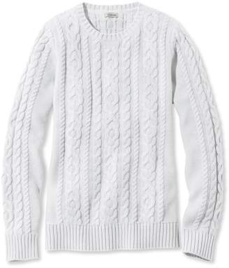 L.L. Bean L.L.Bean Double L Mixed-Cable Sweater, Crewneck