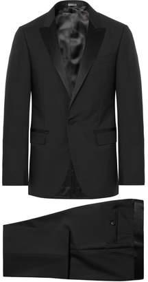 at Mr. Porter Lanvin Black Slim-Fit Satin-Trimmed Wool And Mohair-Blend  Tuxedo