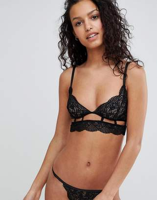 Asos Design Violet Geo Lace Triangle Bra