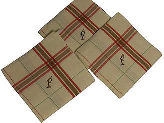 One Kings Lane Vintage French Metis Tea Towels - Set of 3 - Vaillant & Cie