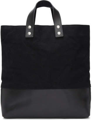 Comme des Garcons Homme Homme Black Canvas and Leather Tote